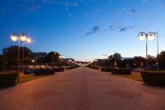 Kosciuszko in square in Gdynia, Poland. Royalty Free Stock Photography