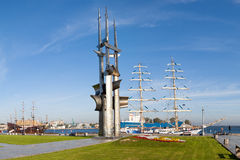 Kosciuszko Square in Gdynia, Poland. Kosciuszko Square is one of the favorite destinations of tourists walking, and the inhabitants of Gdynia Royalty Free Stock Images