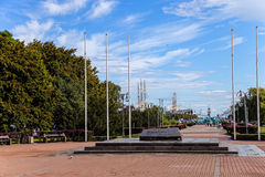 Kosciuszko Square in Gdynia, Poland. Royalty Free Stock Photography