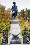 Kosciuszko Statue Lafayette Park Autumn Washington DC. Andrzej Kosciusko Statue, American Revolutionary Hero, Later Polish, Lithuanian Belarusian National Hero Stock Image