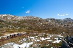 Kosciuszko Walk at Thredo Summit Stock Photo