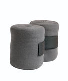 Końscy nowi popielaci knitwear bandaże odizolowywający na bielu Obraz Stock