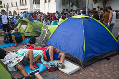 Koseiland, Griekenland - Europese Vluchtelingscrisis royalty-vrije stock foto's