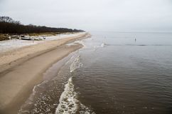 Koserow beach on Usedom in Northern Germany with copy space Royalty Free Stock Photos