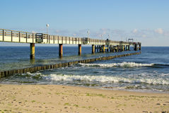 Koserow pier Royalty Free Stock Image