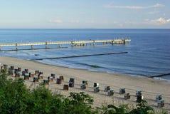 Koserow pier Stock Photo