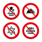 Kosher food product icons. Natural meal symbol Stock Photo
