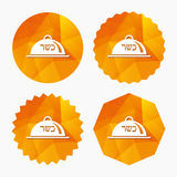 Kosher food product sign icon. Natural food. Stock Photography