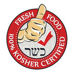 Kosher food, special offer - printable stamp Royalty Free Stock Photo