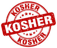 Kosher red grunge round vintage stamp Stock Photo