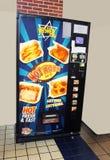 Kosher Vending Machine. Hot kosher food vending machine in the Bronx Zoo in New York City. The machine has pizza, Potato Kinish onion rings, spicy french fries Stock Image