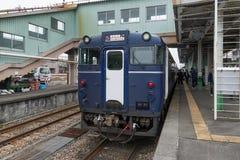 Koshino Shu*Kura Japoński czysty ryżowego wina degustaci pociąg Obraz Royalty Free