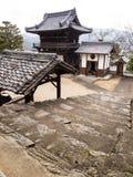 Koshoji tempel i Uchiko, Japan Arkivbilder