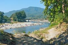 Kosi river, Corbett. Beautiful scenery of Jim Corbett Forest and kosi river, india Royalty Free Stock Image
