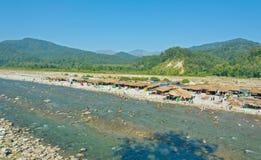 Kosi river, Corbett. Beautiful scenery of Jim Corbett Forest and kosi river, india Stock Photos