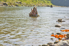 Kosi river, Corbett. Goddess statute in kosi river, Jim Corbett, india Stock Photos
