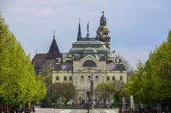 Kosice - architecture and parks Royalty Free Stock Image