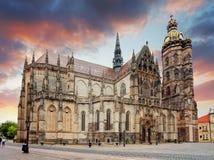 Kosice, catedral de St Elizabeth, Eslovaquia Fotografía de archivo libre de regalías