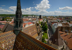 Kosice Cathedral and citiscape top view Royalty Free Stock Image