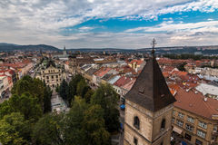 Kosice city center. Photo of Kosice city center from tower of Gothic St. Elisabeth Cathedral, Slovakia stock photography