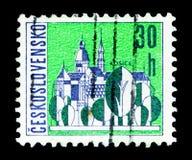 Kosice Czechoslovak stadsserie, circa 1965 Royaltyfri Fotografi