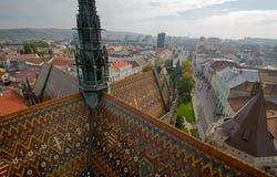 Kosice dalla torre della cattedrale Immagine Stock
