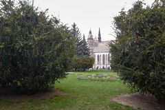 Kosice, Eslováquia - 17 de abril de 2018: Catedral do ` s do St Elizabeth em Kosice Imagens de Stock Royalty Free