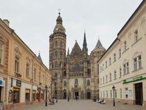 Kosice, Eslováquia - 17 de abril de 2018: Catedral do ` s do St Elizabeth em Kosice Imagens de Stock
