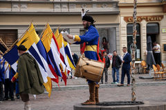 Kosice, Eslovaquia - 8 de mayo de 2016: El banquete vestido Fotos de archivo libres de regalías