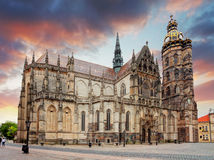 Kosice, Kathedraal van St Elizabeth, Slowakije royalty-vrije stock fotografie