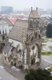 Kosice - Outlook from Saint Elizabeth cathedral to Saint Michaels chapel Royalty Free Stock Photo