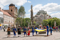 Kosice Sistani, Maj, - 08, 2016: Costumed uczta Zdjęcia Royalty Free