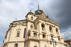 Kosice, Slovakia. Famous National Theatre building exterior stock photography