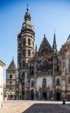 Kosice in Slovakia. St. Elisabeth cathedral Royalty Free Stock Photography