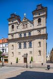 Kosice in Slovakia. Holy Trinity church Royalty Free Stock Image