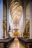 Kosice in Slovakia. Interior of St. Elisabeth cathedral Stock Photos