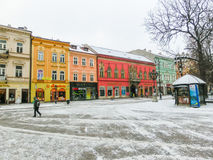 Kosice, Slovakia - January 05, 2016: Architecture in the old town Royalty Free Stock Photos