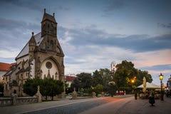 Kosice, Slovakia. Kosice, Slovakia - August 11, 2018: St. Michael chapel in the main square of Kosice city in eastern Slovakia Royalty Free Stock Photo