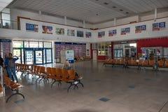 KOSICE, SLOVAKIA – MAY 1 2019: Inside of terminal of Main bus station in Kosice Slovakia stock photos