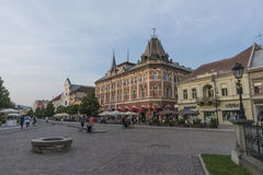 Kosice square in autumn time Royalty Free Stock Images