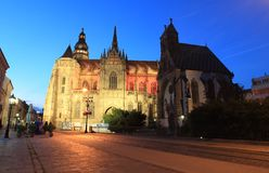 Kosice at sunset Royalty Free Stock Photos