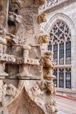 Kosice - szczegół od gothic fasady świętego Elizabeth gothic katedra Obraz Stock