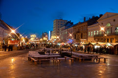 Kosice winter markets Royalty Free Stock Image
