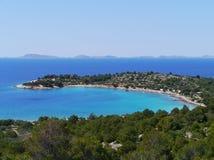 The Kosirina bay of the island Murter Royalty Free Stock Photography