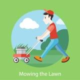 kosisz trawnik, ilustracja wektor