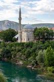 Koski Mehmed Pasha Mosque i Mostar, Bosnien och Hercegovina royaltyfri fotografi