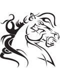 koński tatuaż Zdjęcia Royalty Free