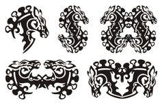 Końskiej głowy symbole Zdjęcie Royalty Free