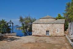 贴水Kosmas, Alonissos海岛 库存图片