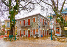 In Kosmas village in Greece Royalty Free Stock Photo